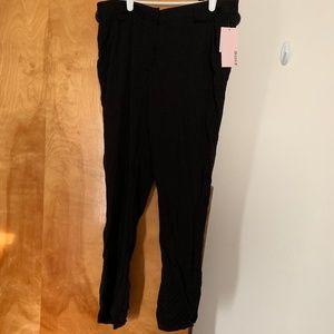 NWT JustFab Tie Front Skinny Trouser